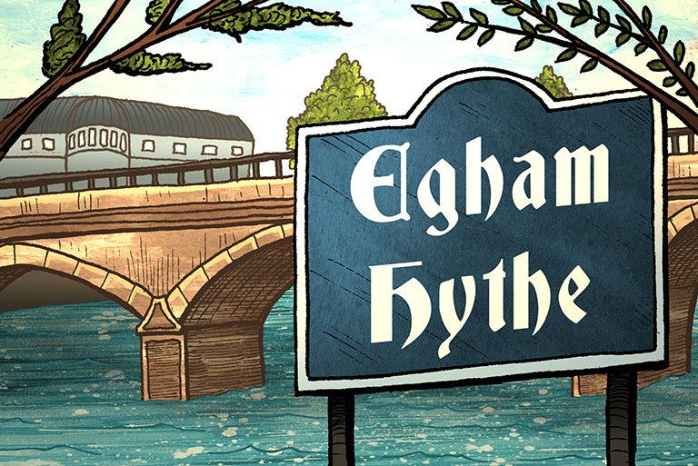 Visit Egham - illustrations-Egham Hythe-768